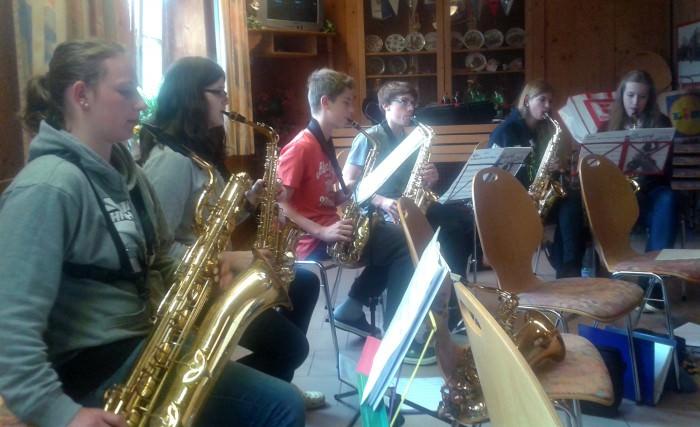 Saxophon-Register der Jugendkapelle